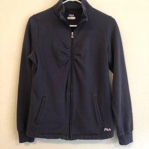 Navy/Black Fila Zip Up Sweater